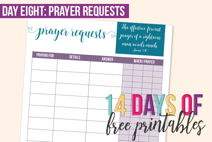 Day 8: Prayer Requests
