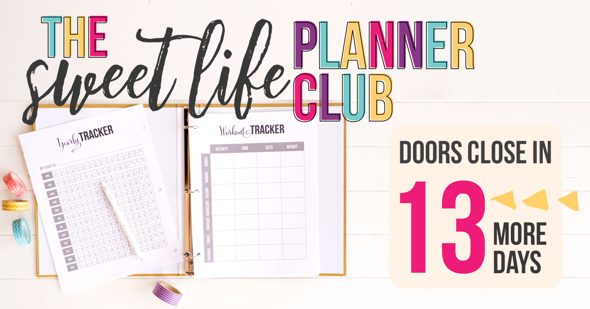 The Sweet Life Society has a HUGE library of pretty printables PLUS we're adding new ones EVERY single week, based on what members request. Join the club before the doors close!
