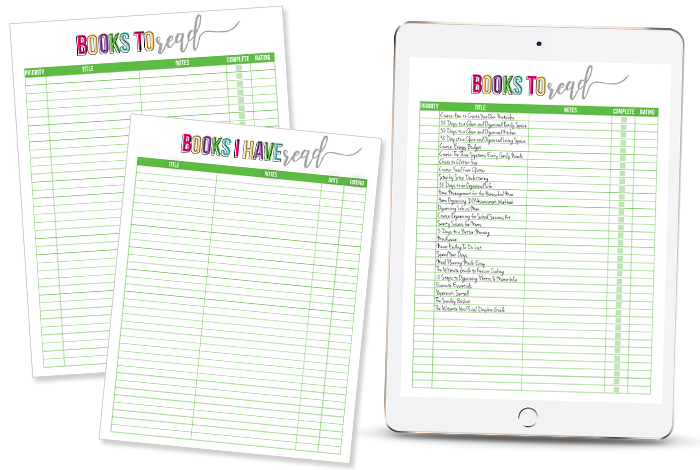 Free Printable Reading List  I Heart Planners