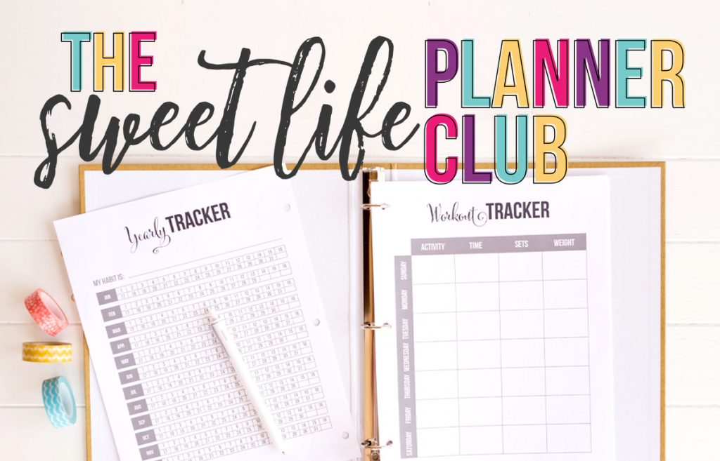 I'm so excited bring you 14 days of free printables to celebrate the all the new things we're adding to the Sweet Life Society in 2017. Full size, half size, personal size, Happy Planner size: all inside the club! Join today. - www.iheartplanners.com