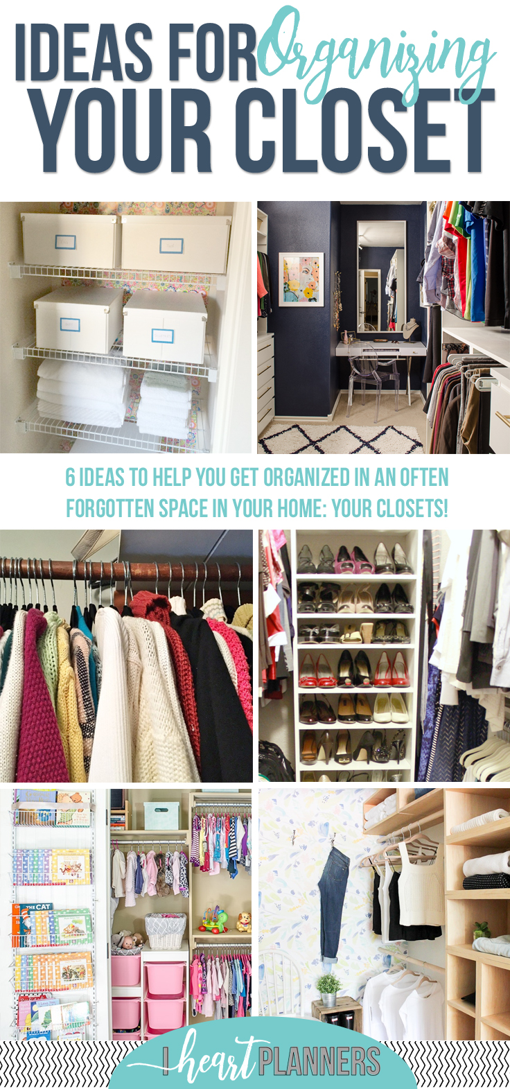 How to organize your closet i heart planners for How to organize your closets
