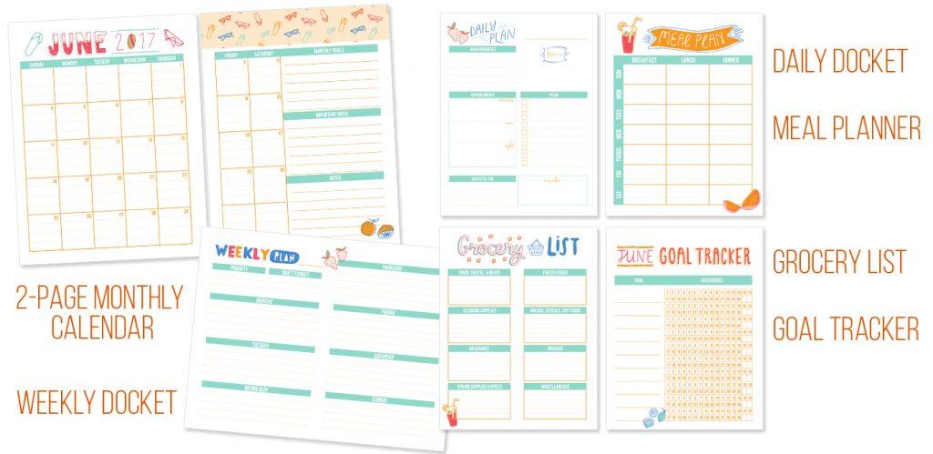 2017 Ultimate Homemaking Bundle - I Heart Planner Bonus! - June Printables Kit