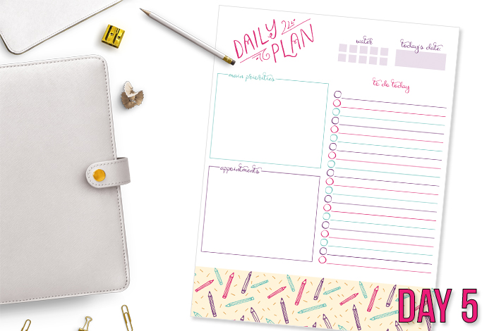 Pretty Daily Planning Printable
