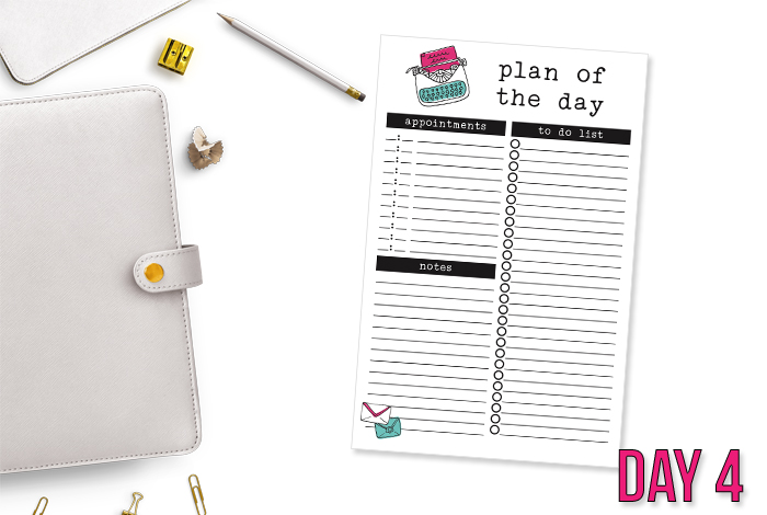 Half Size Daily Planning Printable