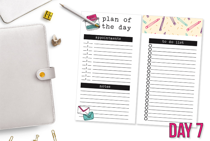 Day Seven of the 7 Days of Free Printables Series. Download now and use today! - www.iheartplanners.com