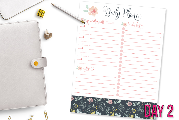 Floral Daily Planning Printable