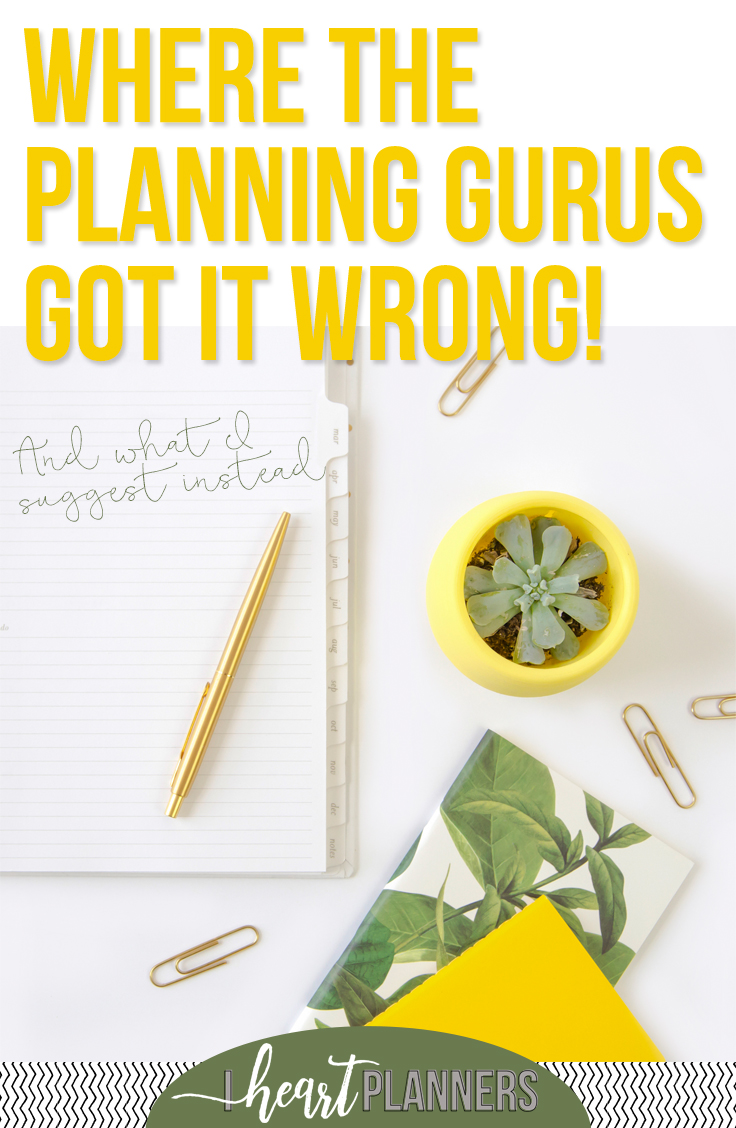 Do you ever wonder why it's SO HARD to commit to a planner or planning system and even harder to make it all actually happen? I'll let you in on a little secret. I think the planning gurus got it wrong! Here's what I recommend instead for planning your days and sticking to your plans. - www.iheartplanners.com