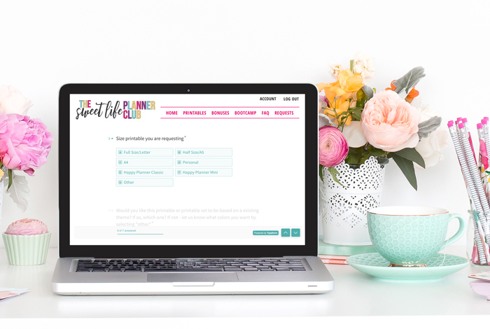 Join the Sweet Life Planner Club today! We take and fill printable requests from our members weekly.