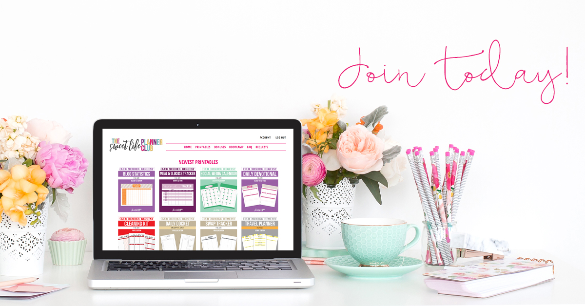 Join the Sweet Life Planner Club today!