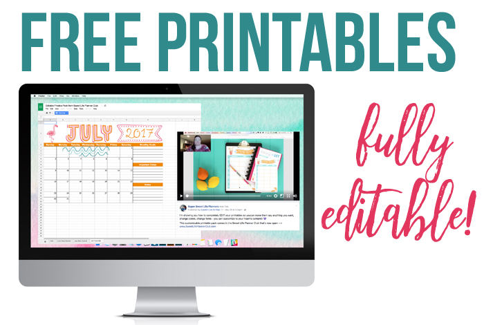 Free Printables You Can EDIT!