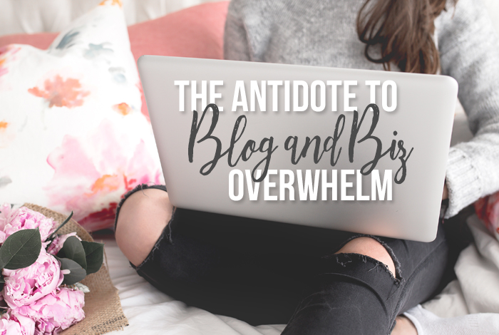 The Antidote to Blog and Biz Overwhelm
