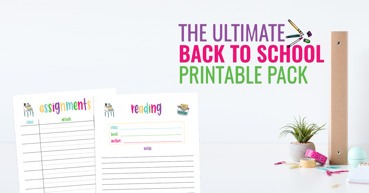 It's here!!! The Ultimate Back to School Printable Pack.