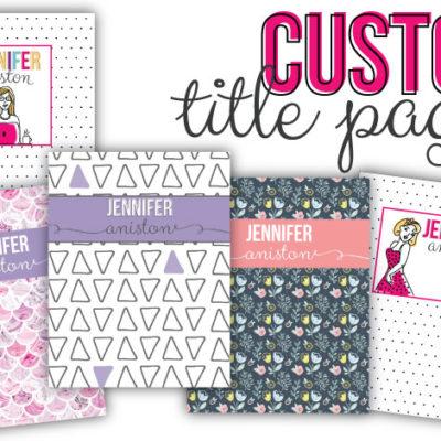 Custom Printable Planner Cover