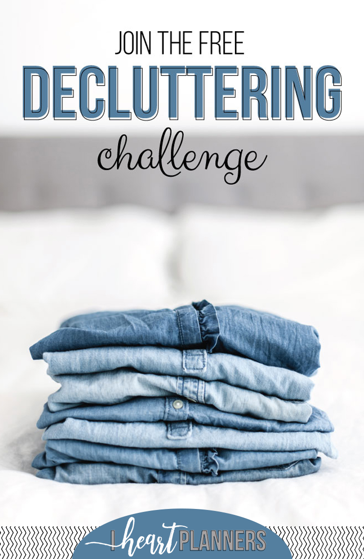 I invite you to join us as we walk through the next 10 days and declutter one area of our homes at a time! We'll provide you with accountability, motivation and easy, simple organizing tips. Join us today! - iheartplanners.com