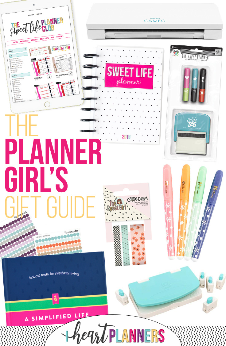 Planner Girl Gift Guide from iheartplanners.com