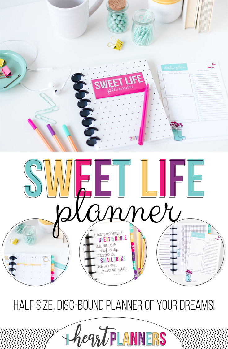 All-new Sweet Life Planner - half size, disc bound planner of your dreams.