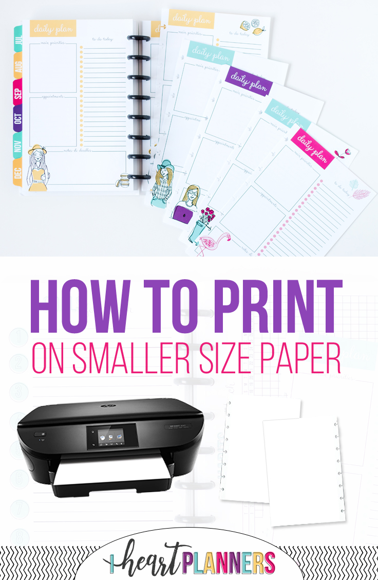 How to print on the smaller size paper that comes with your Sweet Life Planner. Video walk-through's included for both Mac and PC users. - iheartplanners.com