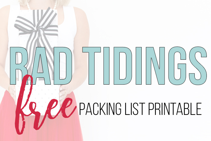 Holiday Packing List – Free Printable!
