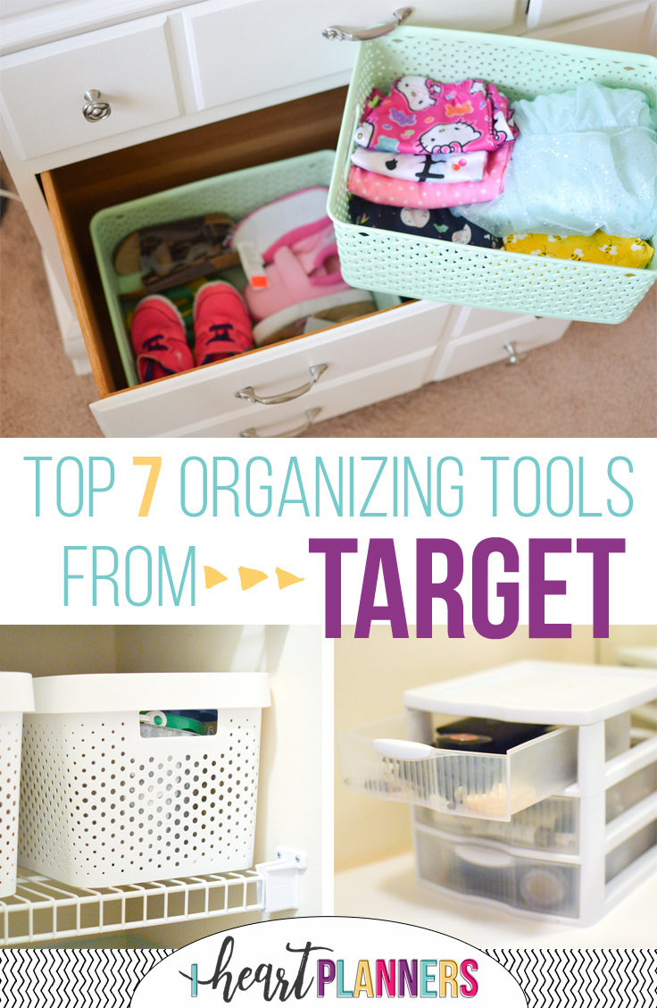 My top 7 Target Organizing Tools: bins, carts, drawers and more! - iheartplanners.com