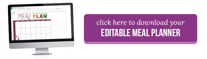 Editable Meal Planner