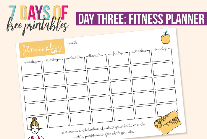 photograph relating to Free Printable Fitness Planner identified as Health and fitness Planner Printable - I Centre Planners