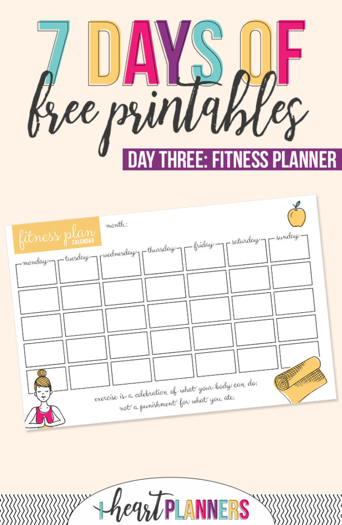 graphic relating to Fitness Planner Printable identify Exercise Planner Printable - I Centre Planners