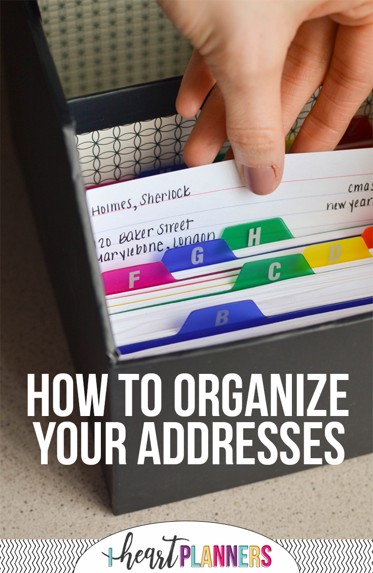 How to Organize Your Addresses - iheartplanners.com