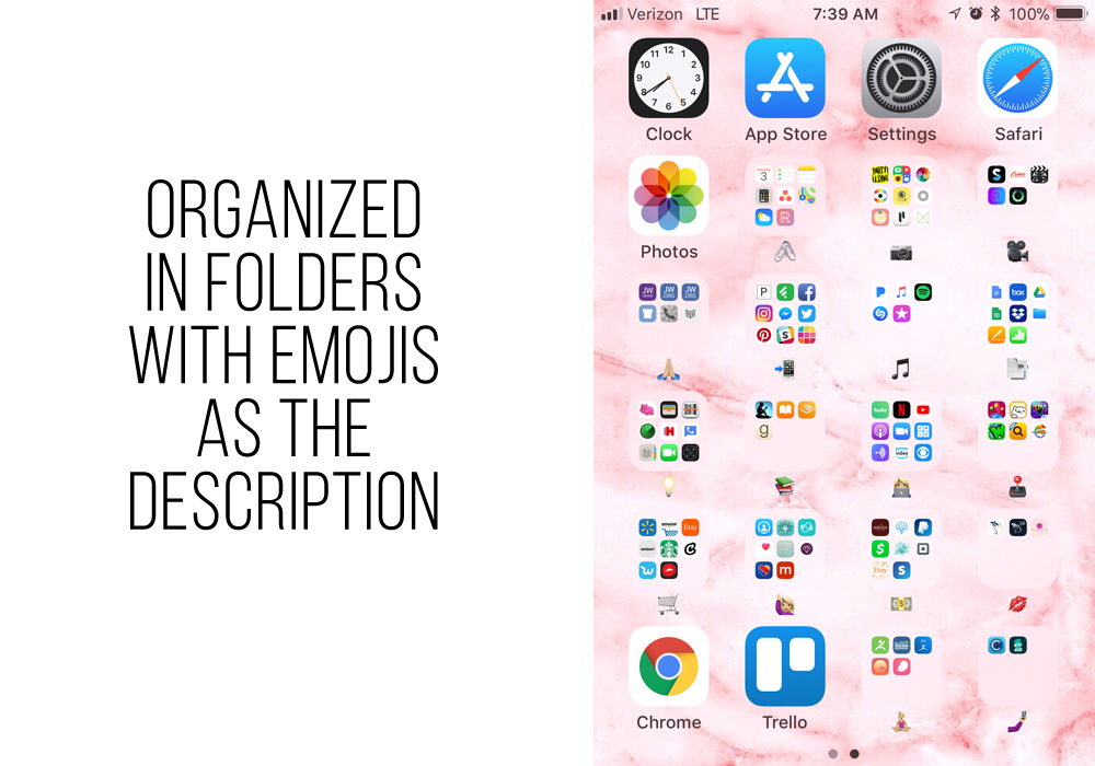 How to organize your phone and your apps. Clever ideas to make it pretty and functional. - iheartplanners.com