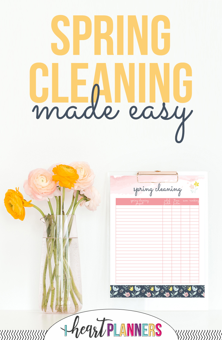 Spring cleaning made easy from iheartplanners.com
