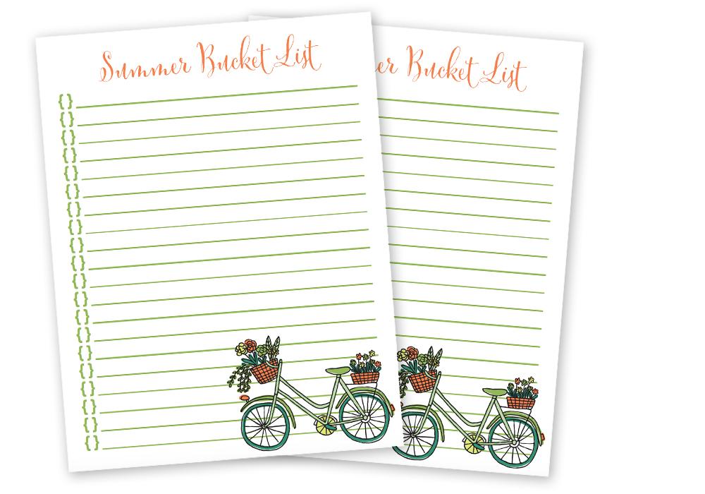 Free Summer Bucket List Printable - iheartplanners.com