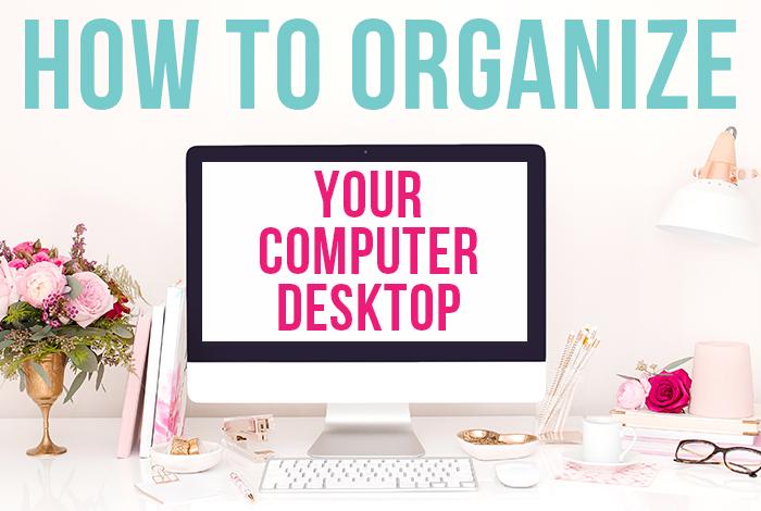 How to organize your computer desktop - iheartplanners.com
