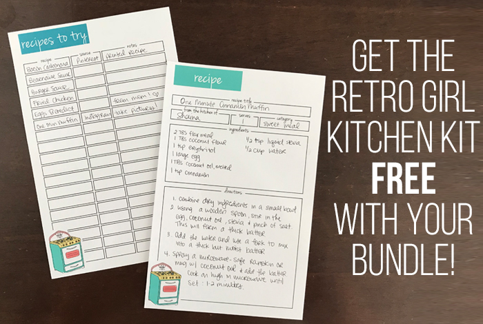Recipe Binder and Kitchen Printable Kit