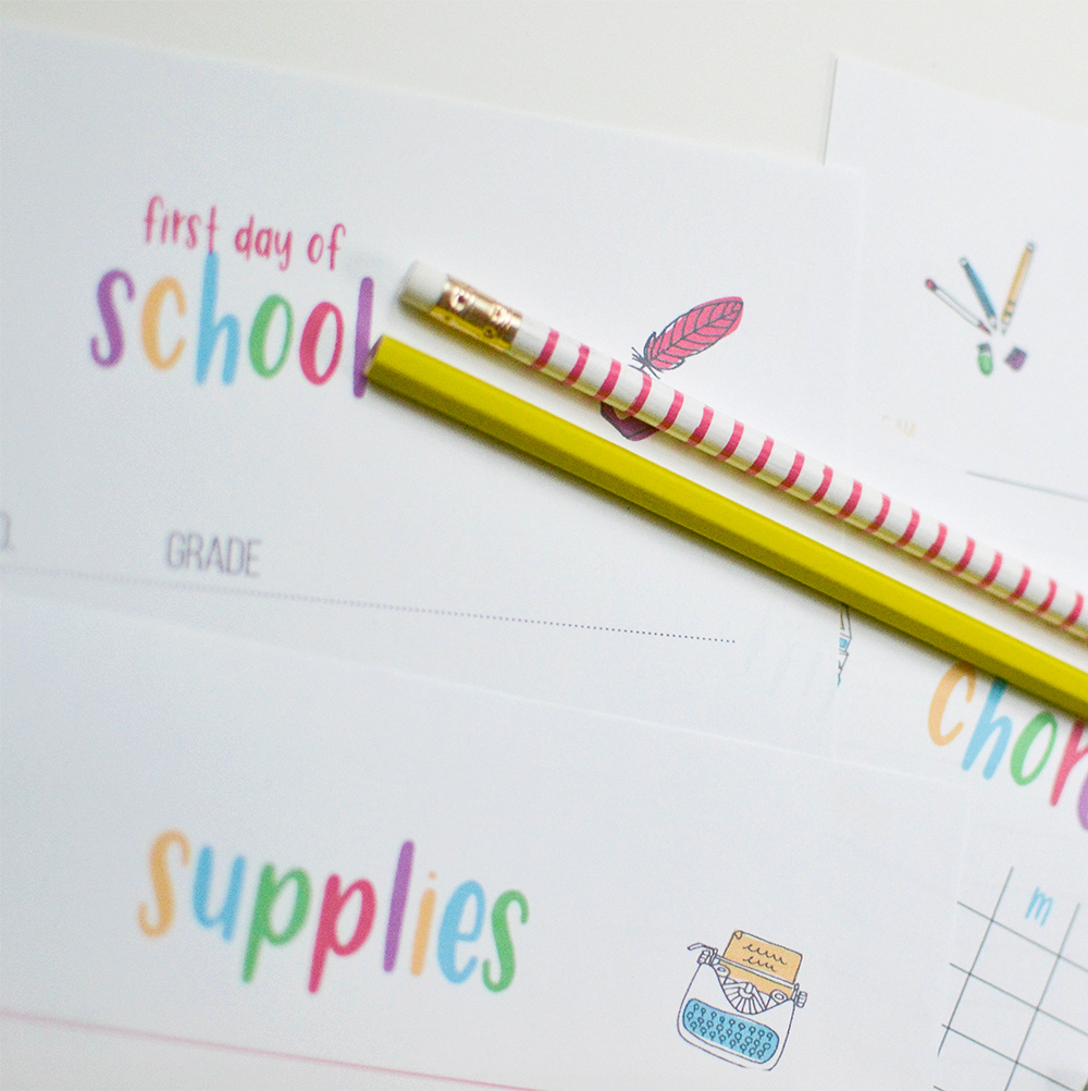 Make this your most organized school year yet! First day of school printables, routine checklists, assignment tracking and more!
