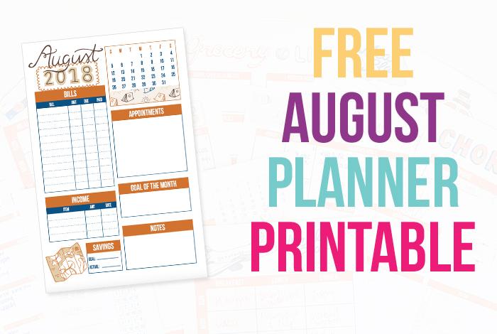 Free Planner Printables: August