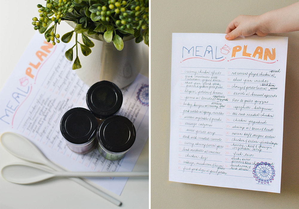 Enjoy this free monthly meal planner printable to help you get all of your meal planning done at once for the entire month.