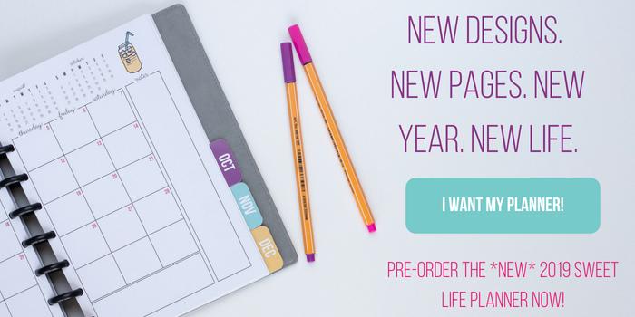 Pre order Sweet Life Planner