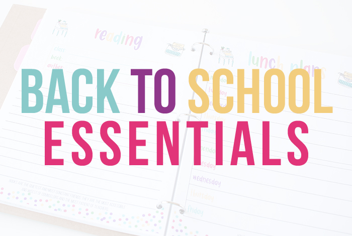 Kids going back to school? Get organized now.