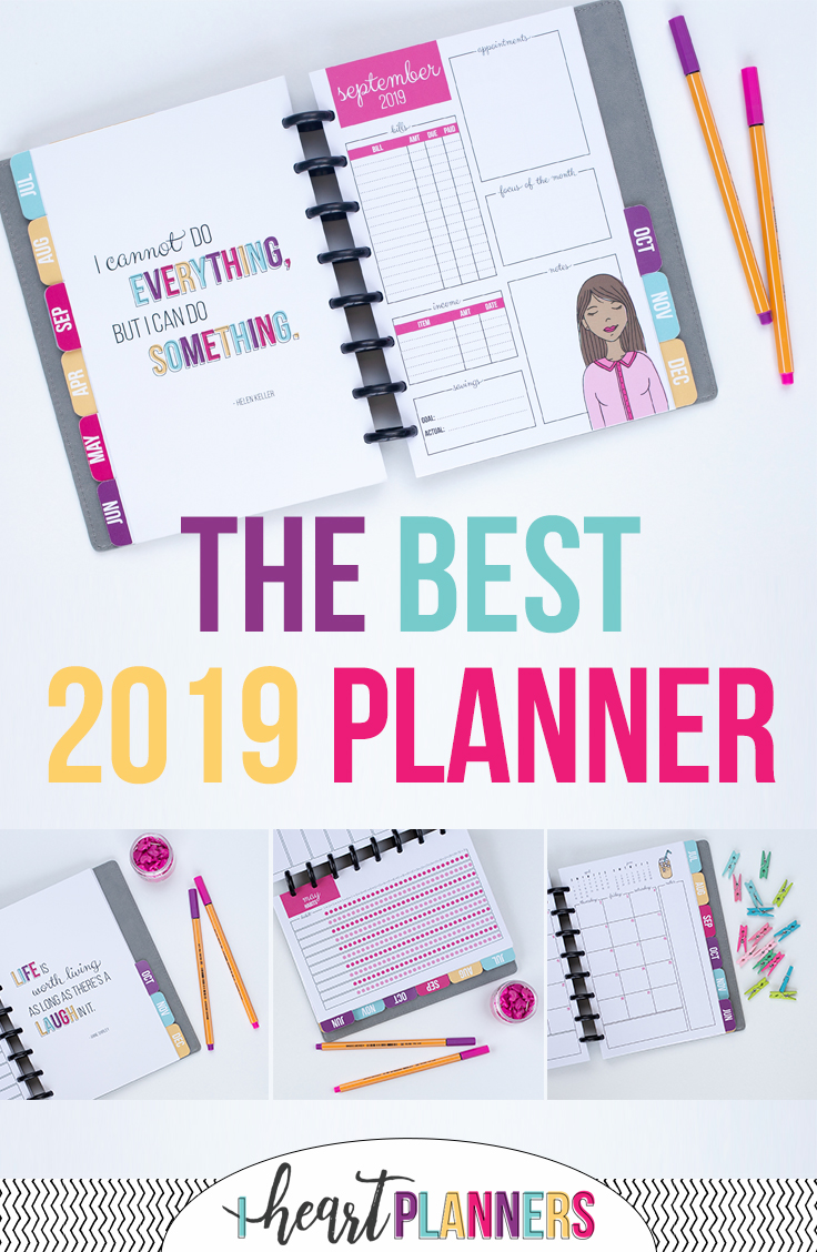 Daily planner, weekly planner, monthly planner - this custom planner is everything you need to stay organized.