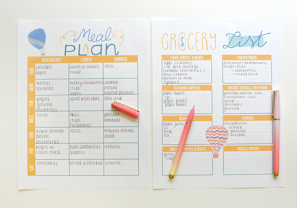 Free planner printables every month! Check out these September planner pages.