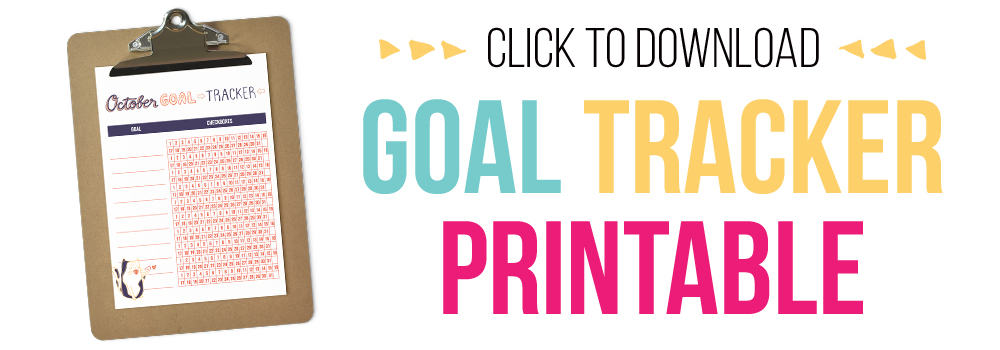 graphic regarding Printable Goal Tracker named Absolutely free Purpose Tracker Printable - I Centre Planners