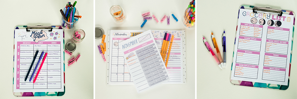 "Free printables every month! Check out these November planner pages. Doing this kind of ""birds eye view"" planning every month can be a game-changer. Don't miss these helpful and gorgeous pages."