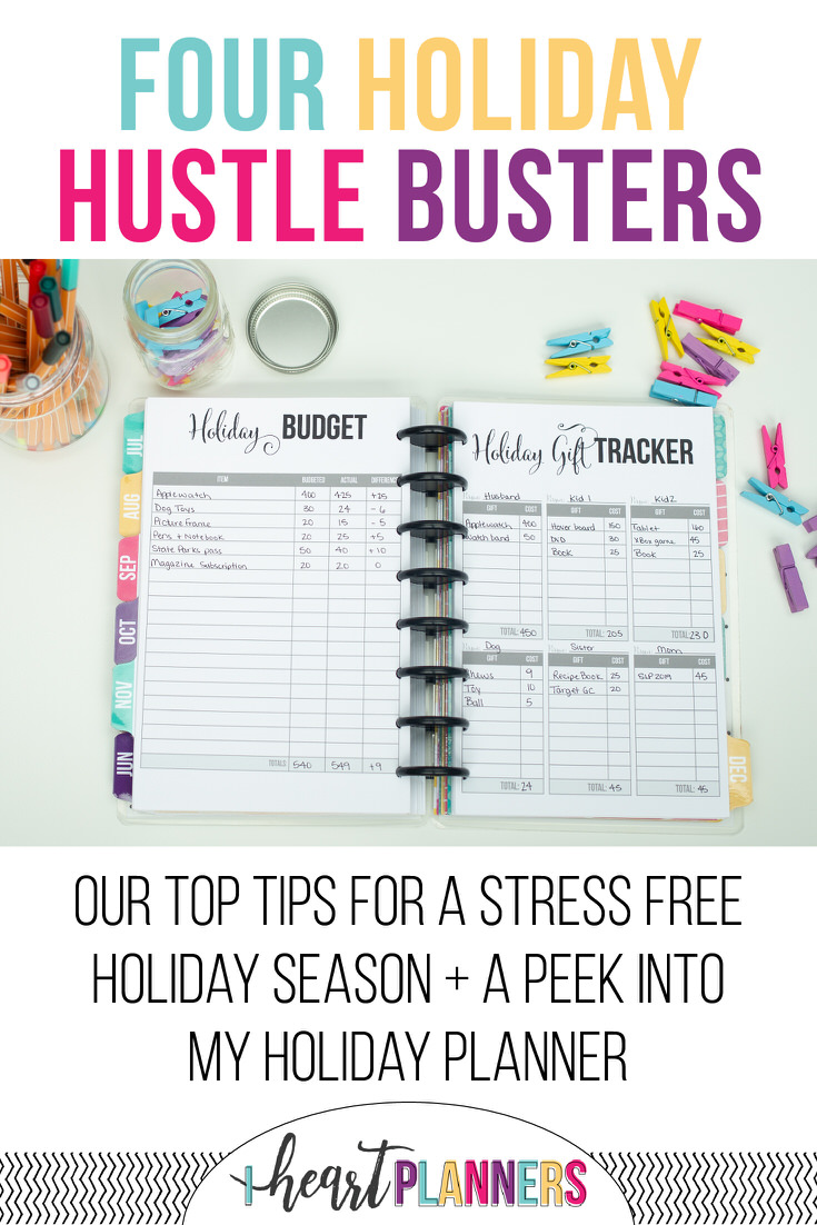 How to Have an Organized Christmas: Sharing our top tips for a stress free holiday season along with an inside look at our holiday planner. Plus free printable alert: you can download our gift tracker printable.