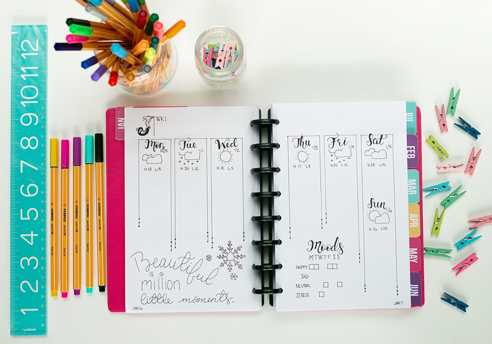 Learn how to bullet journal. We're showing you how to set up your bullet journal even if you are complete newbie - in a way that it is super simple and completely doable for the average person.