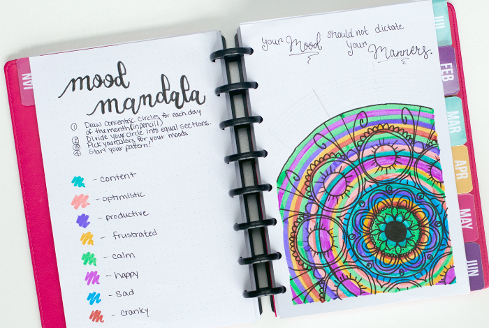 Adding a mood mandala to your bullet journal provides a way for your planner to become a creative diary and optimal scheduler all in one. Here are some of our favorites for inspiration to your BUJO.