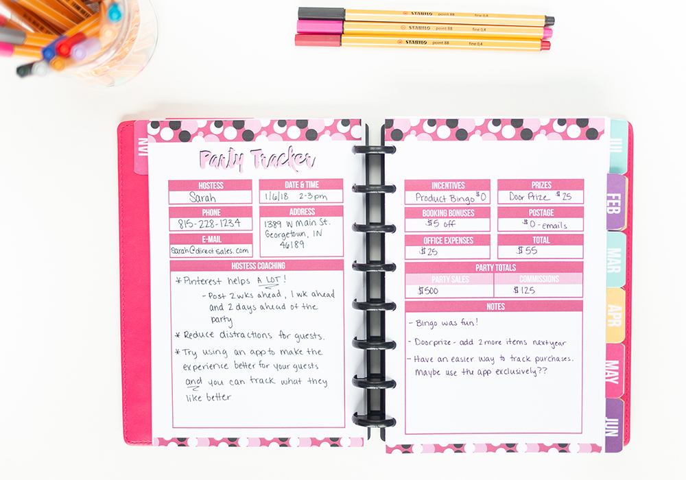 7 days of free printables - direct sales planner
