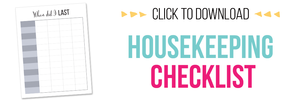 7 days of free printables - housekeeping checklist printable
