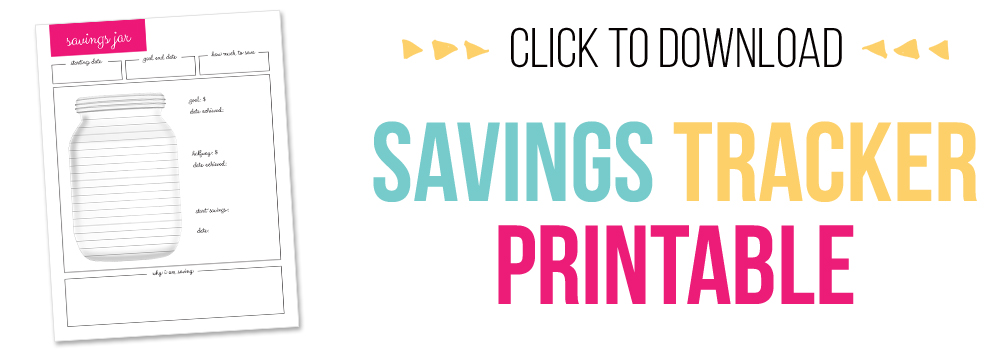 7 days of free printables - savings tracker printable