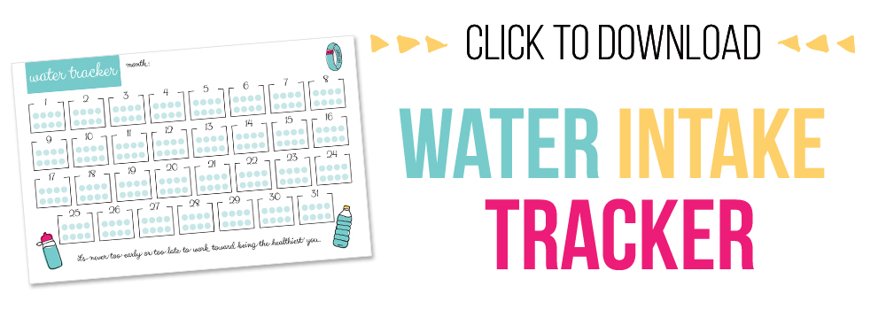 7 days of free printables - water intake tracker printable