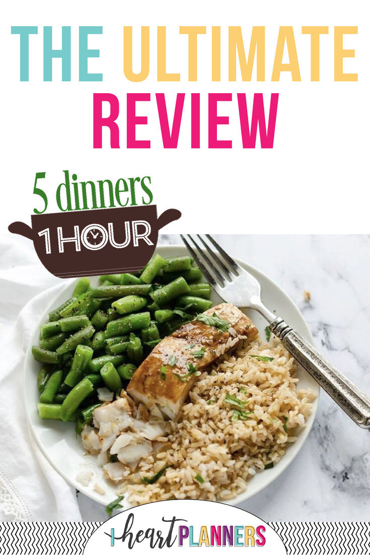 "We tried all the meal planning services so you didn't have to! Read the reviews and pick your favorite to start using today! Read our honest opinions of ""5 Dinners 1 Hour."""