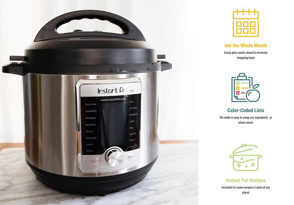 My honest review of Eat at Home Meal Plans after trying them out for myself. They are the only service I've found that offers a slow cooker and instant pot meal plan.